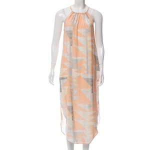 Mara Hoffman orange geo print dress